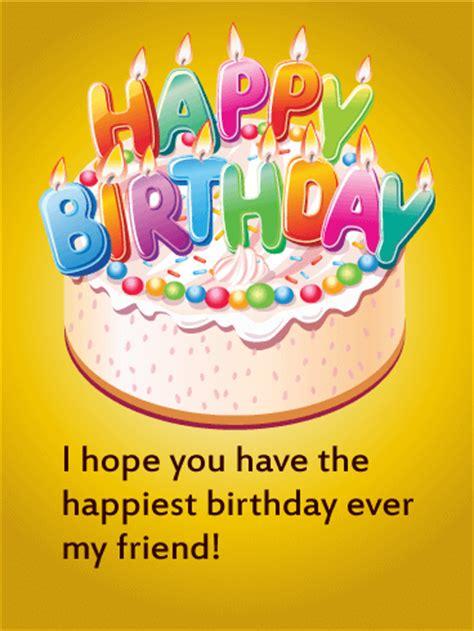 happy birthday cake card  friends birthday greeting