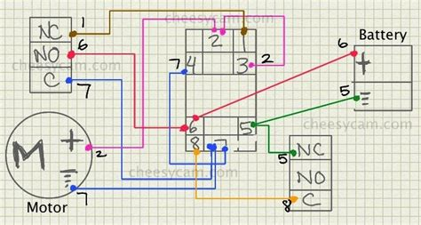 Dc Motor Switch Wiring Diagram by Relay Adding Speed For A Dc Motor Electrical