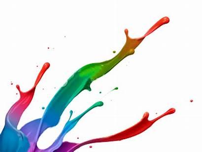 Paint Splatter Clip Cliparts Splash Colorful Colour