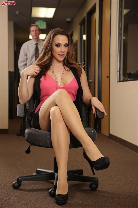 Brunette Office Woman Shows Her Fantastic Big Knockers