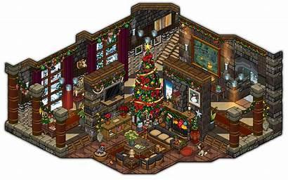 Christmas Livingroom Cutiezor Habbo Living Cozy Deviantart