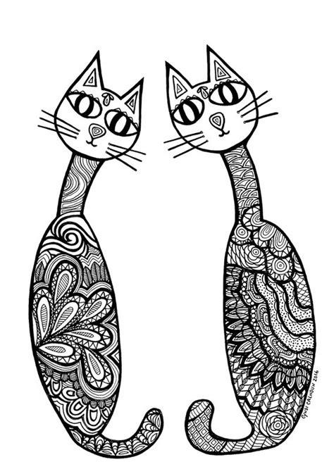 katzen ausmalbilder fuer erwachsene kostenlos zum