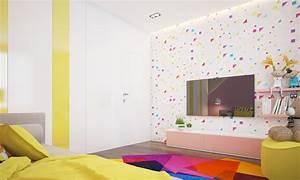 farb und wandgestaltung im kinderzimmer 77 tolle ideen With balkon teppich mit tapete im kinderzimmer