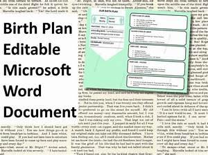 items similar to printable birth plan template editable With birth plan template australia