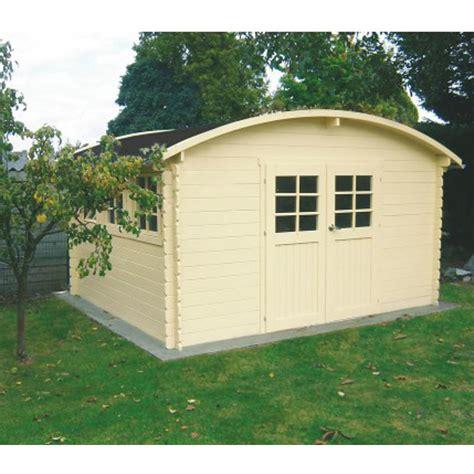 abri de jardin toit rond en bois certifi 233 12 73m 178 madriers 28mm