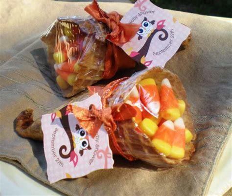 fall party favor idea diy candy cornucopias big dot of