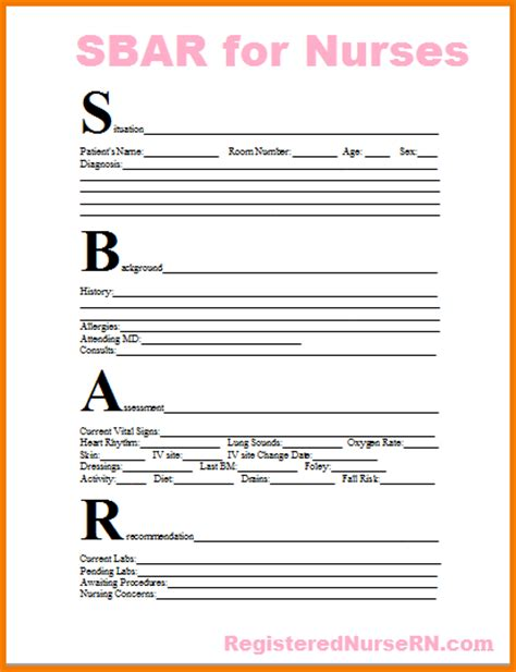 sbar nursing template 7 report sheet template expense report