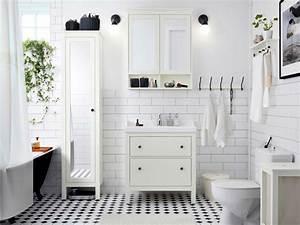 salle de bains avec carrelage meuble lavabo et armoire a With porte d entrée pvc avec lavabo salle bain
