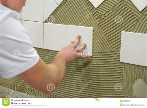 wall tile glue stock photo image of adhesive tile