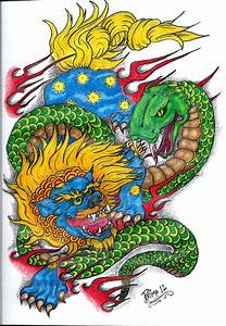 Foo Dog and Serpent by primero on DeviantArt