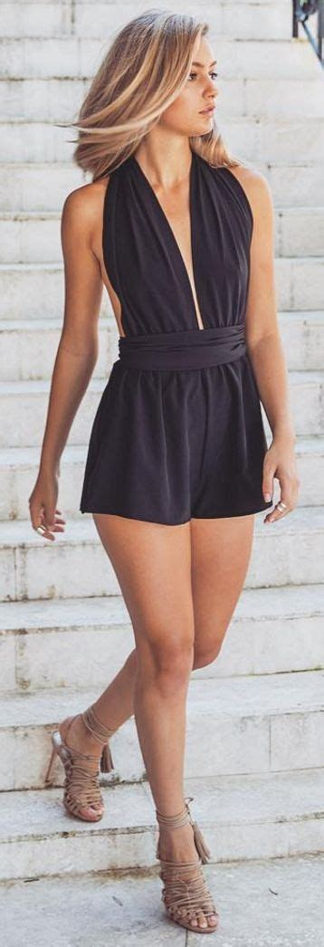 Best 25+ Black romper ideas on Pinterest | Black romper outfit Outfits for vegas and Vegas day ...