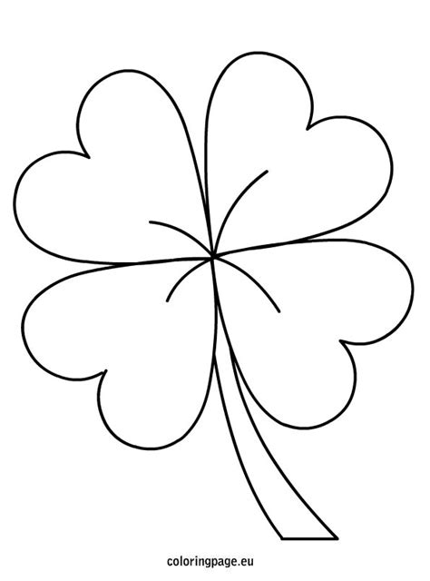 leaf clover st patric day coloring pages