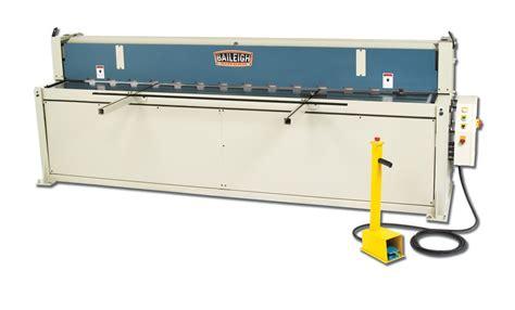 sheet metal shearing machine hydraulic shear sh 12014 baileigh industrial