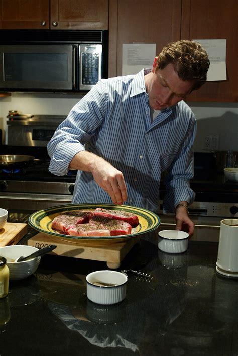 Bobby Flay's New York Strip Steak With Horseradishmint