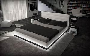 Modernes Bett 180x200 : designer bett moonlight bettgestell mit led beleuchtung 140x200 160x200 180x200 200x200 ~ Watch28wear.com Haus und Dekorationen