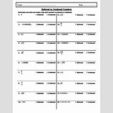 Rational Vs Irrational Numbers Worksheet By Hsarchimedes Tpt