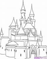 Castle Drawing Disney Drawings sketch template