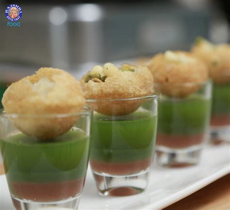 indian canapes ideas pani puri canape with tangy spicy dip pani puri
