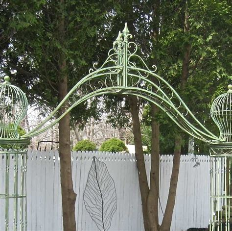 Gardentrellis Arch 9' Tall  Wrought Iron  Antique Mint