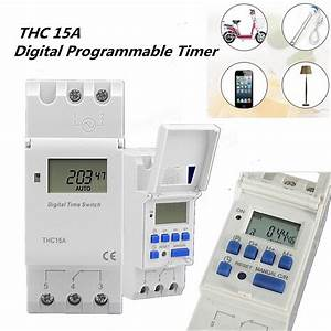 Thc 15a 7 Day Digital Lcd Weekly Programmable Timer Ac 12v