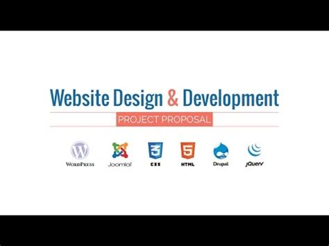 web design development project proposal  hd