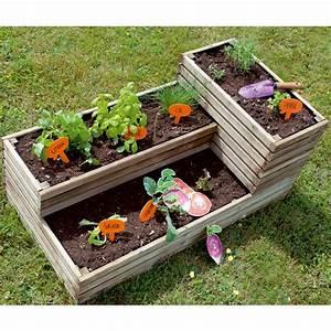 Carre De Jardin Potager : carr potager bois trait l119 5 h53 cm k b 121x40x12 cm ~ Premium-room.com Idées de Décoration