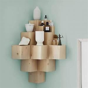 Etagere D Angle En Bois : tag re d 39 angle murale arrondissez les angles ~ Dailycaller-alerts.com Idées de Décoration