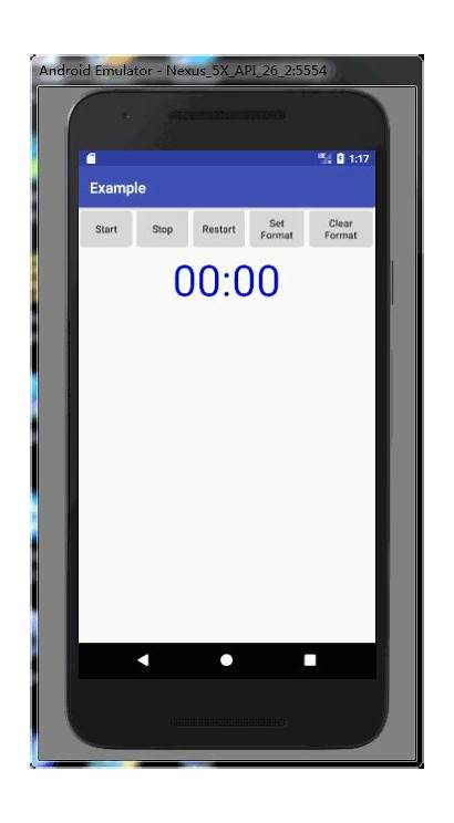 Android Chronometer Example Timer