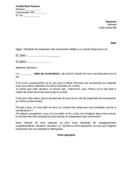 modele lettre resiliation assurance garantie accidents vie loi chatel modele lettre resiliation garantie de la vie