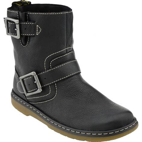 ladies biker boots dr martens ladies 39 gayle 39 black broadway biker boot