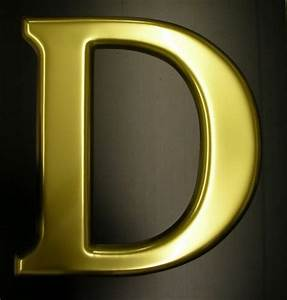 gold moulded letters With gold letter d