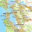 San Francisco Bay Area map according to Urban Dictionary ...