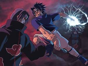 Naruto: Sasuke vs Itachi by Risachantag