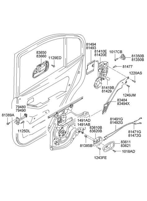 2002 Hyundai Elantra Parts by 2002 Hyundai Elantra Rear Door Locking System