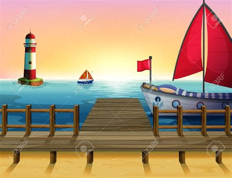 Boat Dock Clipart by Sea Clipart Dock Pencil And In Color Sea Clipart Dock