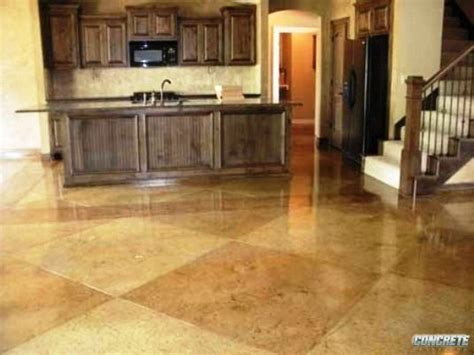 stained concrete floor kitchen acid stained concrete kansas city concrete solutions 5694