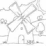 Coloring Mill Pages Windmill Designlooter 41kb 800px Drawings sketch template