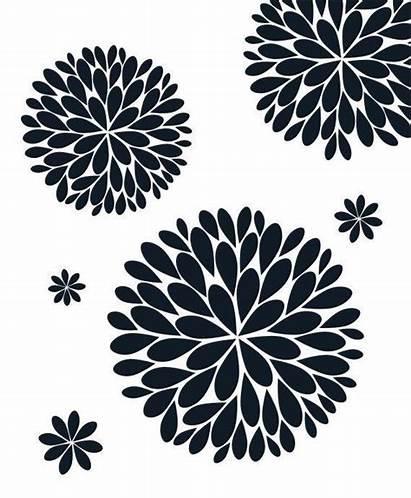 Dahlia Flower Vinyl Svg Wall Decal Stencil