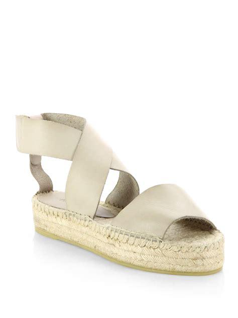 platform new balance lyst vince elise leather espadrille sandals in