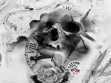 kompass uhr skull tattoos kompass uhren und ideen