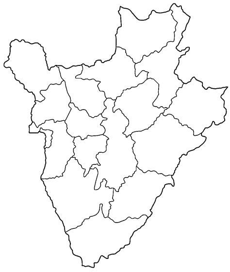 burundi provinces blank mapsofnet