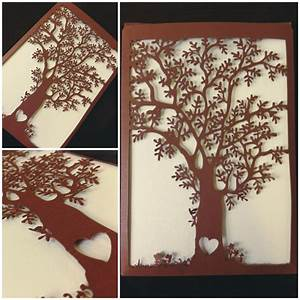 laser cut love tree wedding invitations quotheart treequot With laser cut wedding invitations tree uk