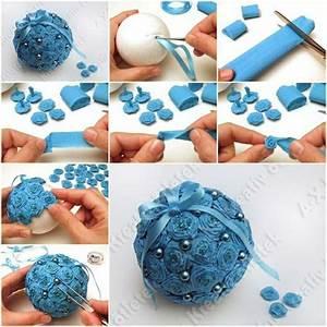 Boule En Papier Crepon : comment fabriquer une boule de noel en papier ~ Dode.kayakingforconservation.com Idées de Décoration