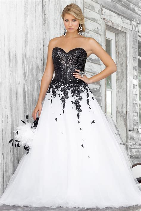 wholesale 2014 plus size dresses black white lace sweetheart strapless a line wedding dresses bl - Breite Brautkleider
