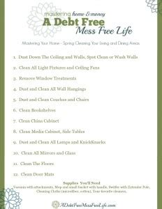 spring cleaning living  dining rooms  cleaning tips
