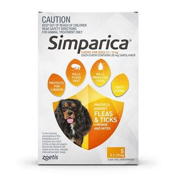 22 5 Lbs To Kg by Simparica For Dogs 11 1 22 Lbs 5 10 Kg 3 Pack Petbucket