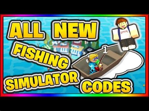 youtuber codes  fishing simulator roblox