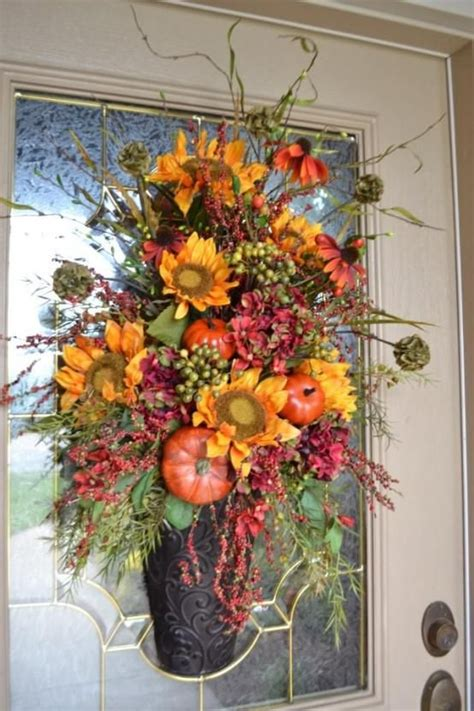 fall front door decorations images  pinterest