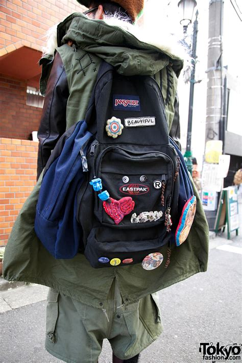decorated jansport backpack  yeah  tokyo