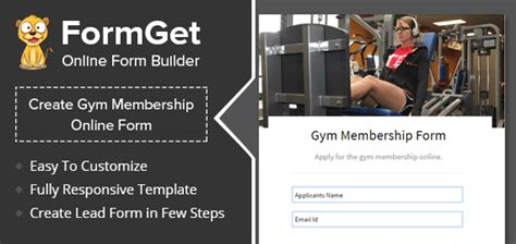 gym membership form  health zones fitness gyms formget